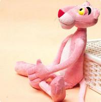 juguete de cosas de pantera rosa al por mayor-Juguetes Regalos Regalo para niños Lindo Travieso rosado Pantera Muñeco de peluche de juguete Decoración para el hogar 40 CM Venta al por mayor y envío de la gota