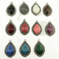 Wholesale Pendant Scarfs - Design Your Scarves Diamond Pendant Accessories Necklace Jewellery Scarf Drop Components Mixed styles Manufacture free shipping