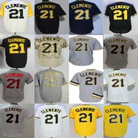 2017 Adulti Lady Youth Toddlers Pittsburgh 21 Roberto Clemente Bianco Grigio Nero Giallo Camo Beige Cheap Cool Flex Base Baseball Jerseys