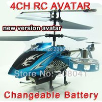 Nouvelle version Avatar F103 4CH IR Télécommande UFO quadcopter drone Gyro RTF 4 canaux RC Helicopter LED Gyro Blue Toy