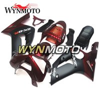 Wholesale Kawasaki 636 Frame - Full Fairings For Kawasaki ZX-6R 636 2003-2004 03 04 Injection ABS Plastics Hull Covers Motorbike ZX6R Frames Bodywork Dark Orange Black New