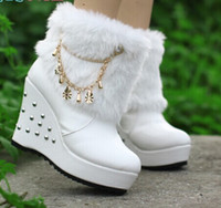 Wholesale White Boot Wedding Lower Heel - Designer white high heels round head waterproof taiwan boots pu short boots evening party bridal wedding boots shoes yzs168
