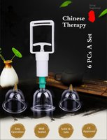 Wholesale Chinese Vacuum Cupping Kits - Househeld Professional Chinese Cupping Therapy Set with Pumping Handle 6PCS Vacuum massage Cups Kit CE Approved