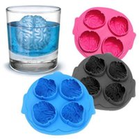 Wholesale Frozen Bar Drinks - KECTTIO Silicone Brain Shape Ice Freeze Cube Tray Maker Mold Mould Bar Party Drink LY