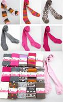 Wholesale Pantyhose Stripe Children - Girl Tights Jacquard Collants Six Size 0-6M 12-18M 3-4T 5-6T 7-8T 10-12T Mix Color Stripes Hot Pink Grey White Pink Brown Children Pantyhose