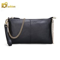 Wholesale 15 Color Genuine Leather Women s Bag Designer High Quality Clutch Fashion Women Leather Handbags Chain Shoulder Bags for women
