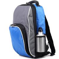 Wholesale Thermal Backpacks - Blue thermal backpack Keep cooler bag Eco-friendly picnic case Outdoor sport camp food beverage storage rucksack