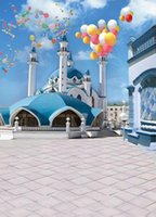 Wholesale Top Photography Backdrops - 200CM*150CM backgrounds Round roof top tower temple architecture photography backdrops photo LK 1333