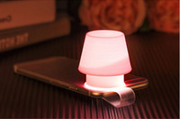 Wholesale Small Bookmark Clips - New Desigh Fashion Mobile Phone Clip Lamp Night Light Atmosphere Bookmarks Small Lamp Gift Free Shipping