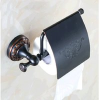 Wholesale Tissue Holders Retail - Wholesale And Retail Free Shipping Bathroom Paper Holder Toilet Paper Holder Flower Carved Oil Rubbed Bronze Tissue Bar Holder