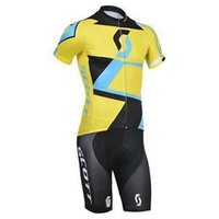 Wholesale Short Montain - 2015 Summer hot sale newest team scott cycling bike wear mens montain road bicycling wear compression short bib sets
