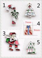 Wholesale Diy Jewellery Christmas Charms - Cross Diy Animal Charms 5pcs Christmas Santa Claus Mix Metal Charms Pendants DIY Jewellery Making Crafts Christmas Charms Lot