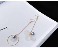 Wholesale Chinese Clip Flowers - 2017 chinese brands ring beautiful Long flower earring ear hook earrings ear clip no pierced ears