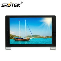 renovierte tabletten großhandel-Großhandels-für Lenovo B8000 Yoga Tablet 10 Refurbish Voll LCD Display Panel Monitor + Touchscreen Digitizer Sensor + Frame