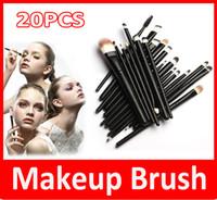 ingrosso pennello utilizza set-Trucco professionale 20pcs spazzole Set Powder Foundation Ombretto Eyeliner Lip Brush Tute per trucco professionale o uso domestico