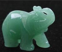 Wholesale Elephant Figurines - Decorative Hand Carved Turtle   Elephant jade Moonstone Figurine Statues jade