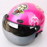 "Wholesale Kk Moto - Wholesale-KK#40 Taiwan ""EVO"" Motorcycle Half Face Snow Motocross Street Scooter Moto Bright Rose ""BENBEN MONKEY"" Helmet"