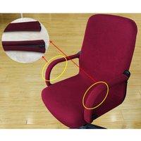 Wholesale Office Chair Armrest Covers - Office Computer Chair Armrest Cover Spandex Stripe Solid Color Elastic Armrest Covers Swivel Chair Zipper Design Seat Armrest Rest Cover
