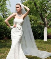 Wholesale Ivory Waltz Veils - 2016 Wedding Veils 3 Meters Long Bridal Veils Veil Ivory  Women Wedding Accessories Free Shipping