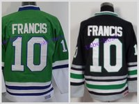 Wholesale Ron Francis Jersey - Wholesale CCM Hartford Whalers Jerseys #10 Ron Francis Green New Black Stitched C Patch Hockey Throwback Jersey Free Shipping