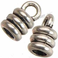 embouts de bricolage achat en gros de-cordons embouts bricolage bracelet perles en métal fabrication de bijoux fabrication de ton argent antique 3mm trou rond corde nouvelle découverte de bijoux de mode 5 * 9mm 400pcs