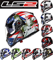 Wholesale Motorcycle Cross Helmets - 2016 FASHION LS2 fiberglass double lens Motorbike helmets professional-grade FF396 Cross country Full Face motorcycle helmet with airbag