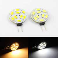 Wholesale Marine Lights Boats - 50Pcs Hot sale AC DC10-30V dimmable g4 9leds smd5730 Led Lights Home RV Marine Boat Led Lamps