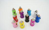 Wholesale Cheap Cars Mp3 - Cheap Bullet Mini USB Car Charger 5V 1000mA Universal Adapter for iphone 5 4 4S 6 Cell Phone PDA MP3 MP4 player mobile i9500 s3 m7 l36h