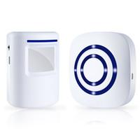 alarma del sensor pir al por mayor-Alerta de camino inalámbrico, alarma de camino de seguridad para el hogar Bohndeiny, timbre de timbre para puerta de visitante con 1 receptor enchufable y 1 sensor de movimiento PIR Det