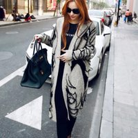 Wholesale Europe Winter Coat - New Europe 2016 Autumn Winter Women's Thick Cardigans Cardigan Sweaters Female Loose Knit Long Clothing Women Sexy weater Coats