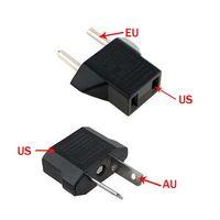 max ac großhandel-Freies Epacket, US / EU zu EU AU Wechselstrom-Stecker-Konverter-Adapter-Adapter USA zum europäischen schwarzen Plastikreise-Konverter Max 2200W zwei Stifte