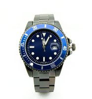 Wholesale geneva red sports watch online - relogio geneva watches AAA New Top Luxury Auto Quartz Brand Men s Watch Stainless Steel Black Dial Sports Hot Characters Men s Watches