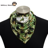 Wholesale Tactical Camouflage Scarf Military Hunting Neck Warm Windproof Soft Scarves Face Mask For Outdoor Sports Fashion Men Colors order lt no tr