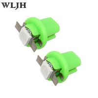 Wholesale bulb cluster online - WLJH Automotive Twist Lock SMD T5 t AUTO LED Instrument Cluster Panel Indicator Side Interior Lamp Light Gauge Bulb