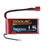 Wholesale Rc Helicopter Truck - GoolRC 1500mAh 30C LiPo Battery 7.4V 2S with T Plug for RC Car Boat Truck Drone