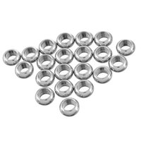 Wholesale Bright Nose Rings - Free Shipping Round Beads Big Hole Closed Circle   Ring Stainless Steel Bright Silver Tone 10x5mm, 10PCs