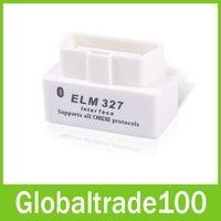Wholesale Mini Wireless Scanner - White ELM327 L Super Mini Bluetooth OBD2 Car Diagnostic Interface Scanner Wireless ELM 327 Scan Tool