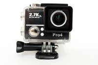 Wholesale Diving Hd - Gopro Hero 4 Type Sports Go Pro Style Camera Top 4K Full HD 1080P With WIFI G560 Control Phone Tablet PC 30 meters Waterproof Cameras