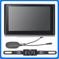 Wholesale Hd Bluetooth Camera China - HD 7 inch Car GPS Navigator Wireless Backup Rearview Camera BLUETOOTH AVIN GPS Navigation POI 4GB Maps WinCE6.0 FM With Sunshade Gift