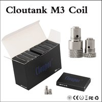 Wholesale m3 clearomizer - Top quality Cloutank M3 Coil Head Dry Herb Coil Wax Coil For Cloupor Cloutank M3 Dry Herb Wax Atomizer VS m2 m4 clearomizer