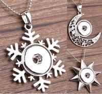 star snap buttons jewelry venda por atacado-3 Estilos Europeu Americano Hot Sales Neve Lua Estrela DIY Colar de Jóias NOOSA Liga Botão Snap Pingente