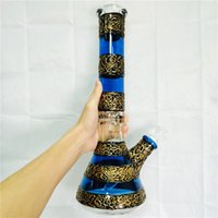 Wholesale Large Glass Beaker - High Quality 9mm Thick Heady Glass Beaker Bong Colorful Straight Tube Water Pipes Large Big Dab Rig Tall Bongs Blue Purple Oil Rigs