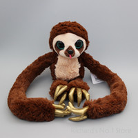 Wholesale Croods Monkey Belt - Belt the Sloth The Croods Monkey Plush Stuffed Animal Toy Doll For kids Gift Big Size 40 cm high, Arm exhibition 105 cm