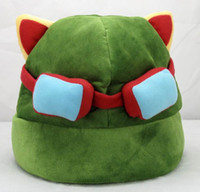 Wholesale teemo cosplay for sale - League of Legends Cosplay Cap Hat Teemo Hat Plush Cotton LOL Plush Toys Hats