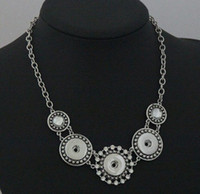 Wholesale Antique Ship Chain - 20% off on sale 18MM Snap Button Noosa Chain Necklace Women Antique Silver Jewelry for Party Jewelry,drop shipping 6pcs