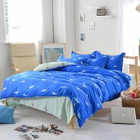 Wholesale-Dropshipping Blue Shark Bettbezug Schöne Printed Decken Cotton Startseite Bettwäsche Set Twin Königin König