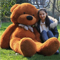 Wholesale Teddy Bears 15 Cm - Stuffed Animals Plus Toys Polyester Cotton 4 Colors Lovely Girls Stuffed Toys 160 CM Discount Bear Toys for AB030 Online