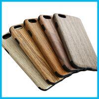 Wholesale Iphone Laser Engraving - 2016 Iphone 6s 6Plus Case Wood Grain Laser Engraving Environmental Cases for iphone 6 iphone 6s Phone Wooden Bamboo Hard Case Back Cover 15p