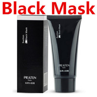 Wholesale Strawberry Sheets - PILATEN Suction Black Mask Cleansing Face Masks Blackhead Remover Peels Tearing Style Deep Black Moor Masks Oil Skin Acne Strawberry Nose