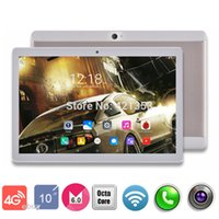 Wholesale-2017 Hot New 10 polegadas 3G 4G LTE tablet Octa núcleo 1920 * 1200 IPS HD 8.0MP 4GB 32GB Android 6.0 Bluetooth GPS tablet 10 10.1 + Presentes